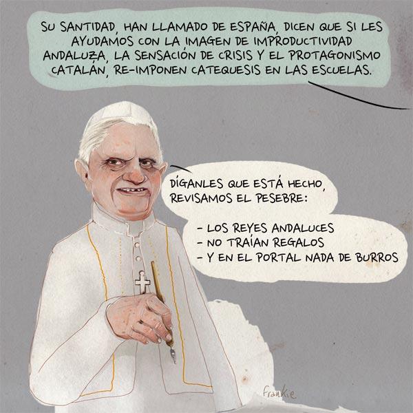 'Benedicto navideño' por Frankie De Leonardis