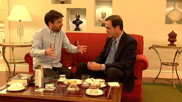 Jordi Évole con José Bono