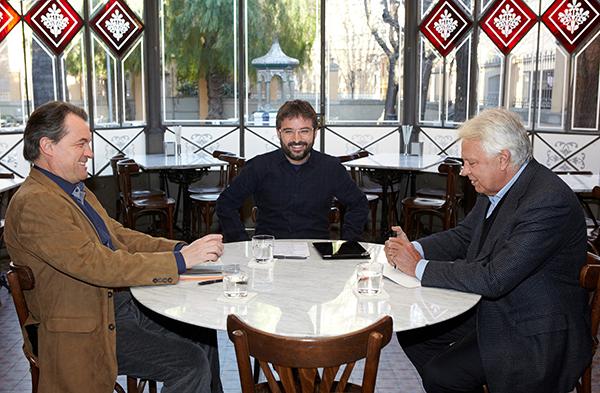 Artur Mas, Jordi Évole y Felipe González