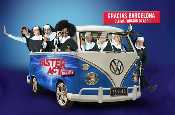 'Sister Act', última función en Barcelona
