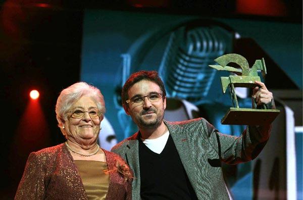 Jordi Évole y su suegra