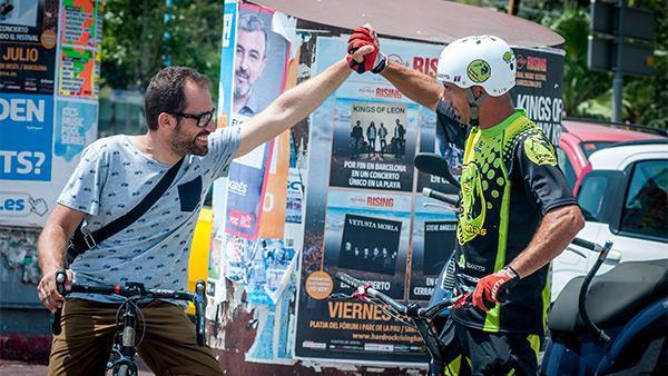 Tony Valcárcel y César Cañas en 'Be bike'