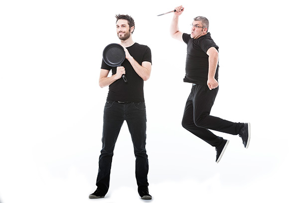 Dani Martínez y Florentino Fernández