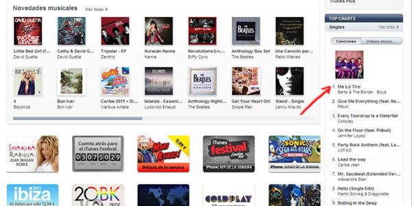 'Me lo tiro' en iTunes