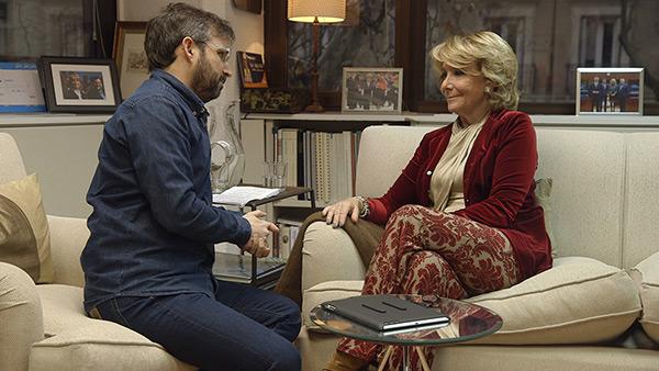 Jordi Évole y Esperanza Aguirre