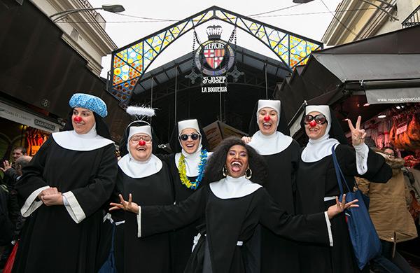 'Sister Act' en el Mercat de la Boqueria