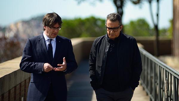 Andreu Buenafuente i Carles Puigdemont