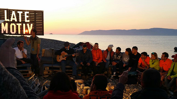 'Late Motiv' en Lesbos